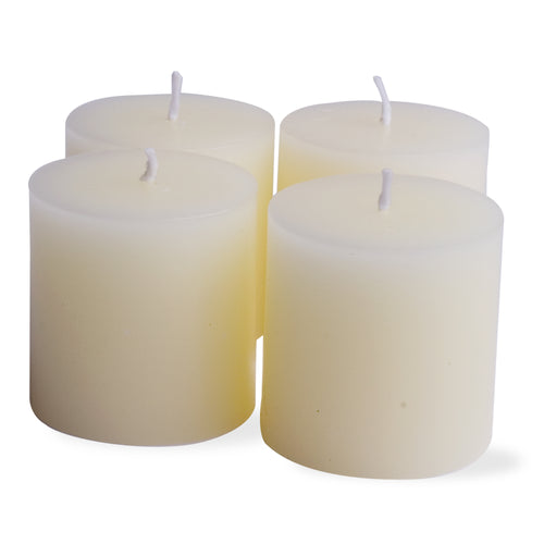 "Mini Pillar Candle Set - 2"" White"