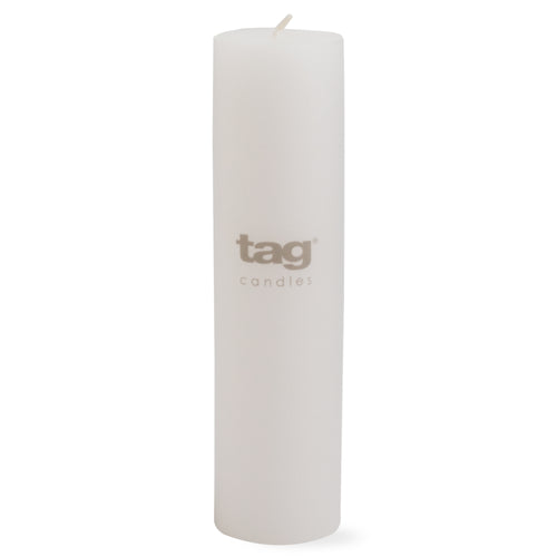 Chapel Candle- White 8x2 Pillar by Tag