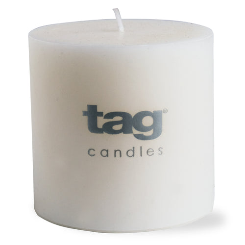 Chapel Candle- White 3x3 Pillar by Tag