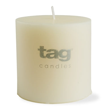 Chapel Candle- Ivory 3x3 Pillar by Tag