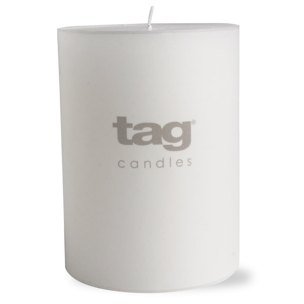 Chapel Candle- White 3x4 Pillar by Tag