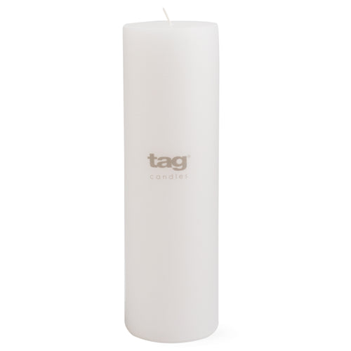 Chapel Candle-  White 10x3 Pillar by Tag