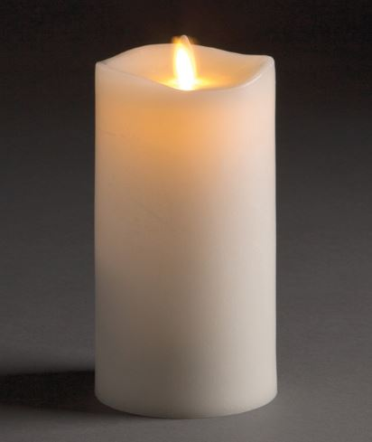 LIGHTLi Moving Flame LED Candles - Ivory Pillars