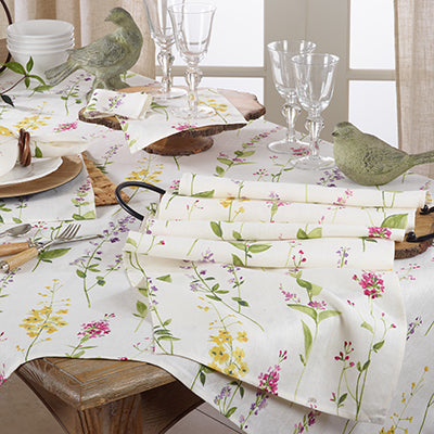 Watercolor Floral Stems Table Runner