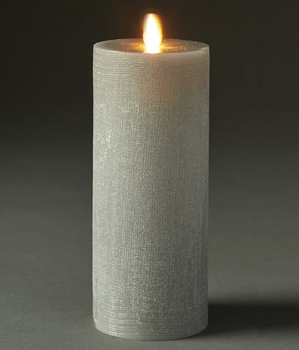 LIGHTLi Moving Flame LED Candles - Gray Pillar