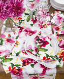 Pink Floral Print Table Runner