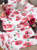 Watercolor Floral Print Table Runner