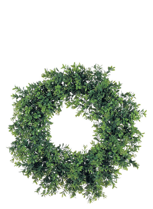 "20"" Artificial Boxwood Wreath"