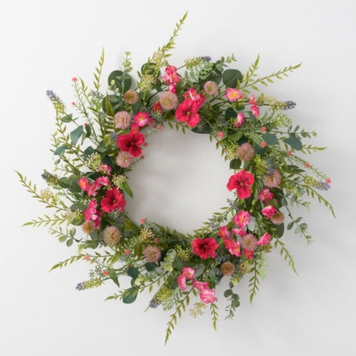Wildflower Pansy Wreath - 21""