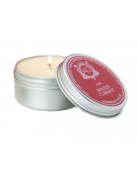 WINTER CURRANT ~ SOY TRAVEL TIN CANDLE by AQUIESSE