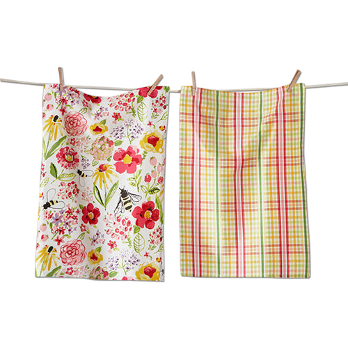 Fresh Flower Garden Dishtowel Set