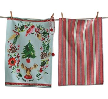 Joyous Moose Dishtowel Set