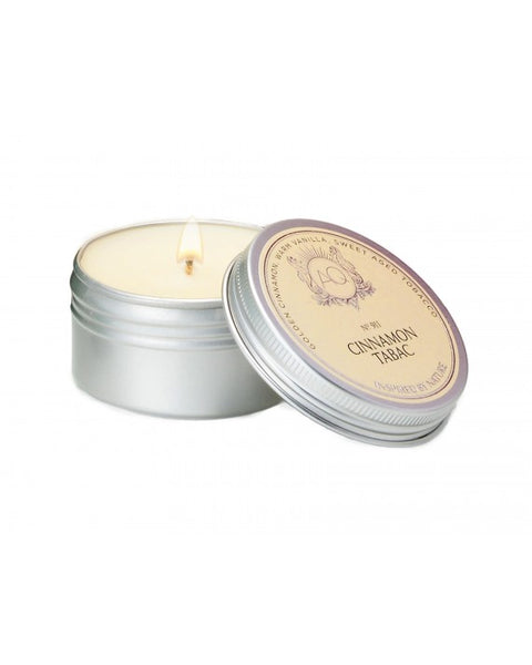 CINNAMON TABAC ~ SOY TRAVEL TIN CANDLE by AQUIESSE