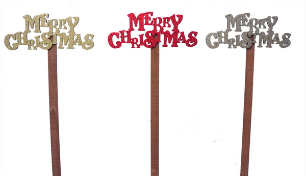 """Merry Christmas"" Wooden Pick"
