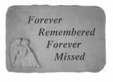Forever Remembered Forever Missed Garden Stone