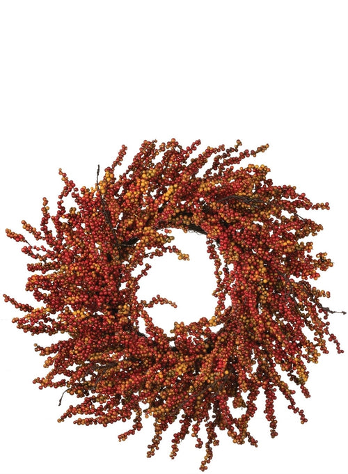 Burgundy Berry Wreath - 25""