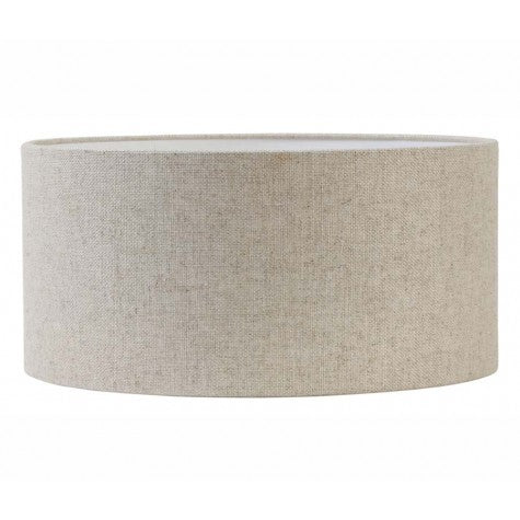 PENDEL NICKEL SATIN W/TRANSPARENT WIRE & BEIGE DRUM SHADE