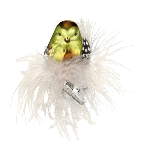 Fluffed Feathers clip on Bird Ornament by Inge-Glas