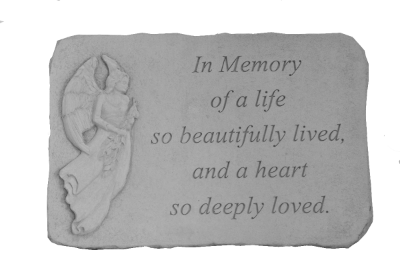 In Memory of a Life Garden Stone