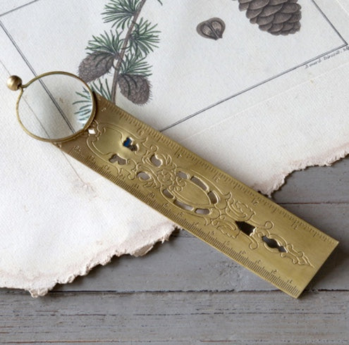 Brass Finish Magnifier Bookmark