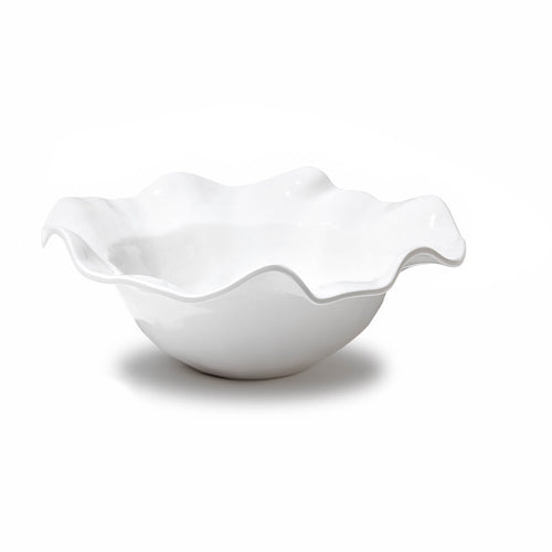 MELAMINE HAVANA WHITE LARGE BOWL