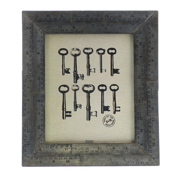 Metal Ruler Picture Frame