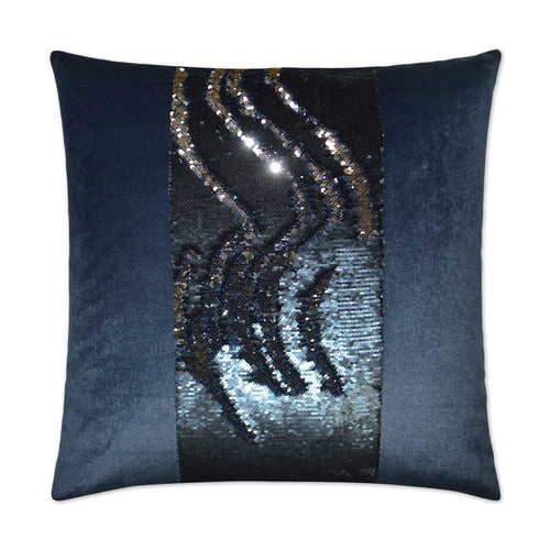 Hylee II-Cobalt Blue Sequin Pillow