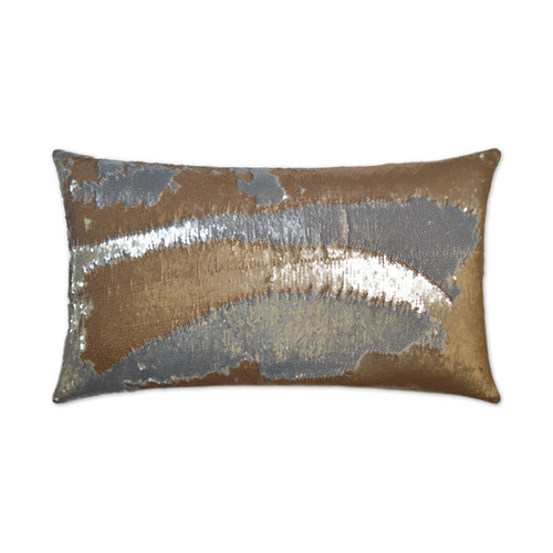 Hylee Lumbar-Gold Sequin Pillow