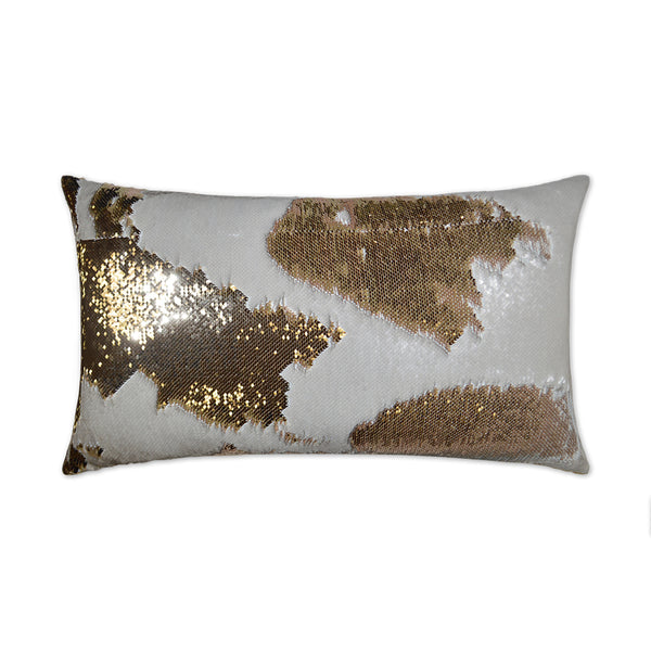 Hylee Lumbar-Ivory Sequin Pillow