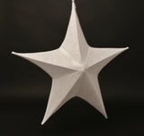 White Shimmer Fabric Star
