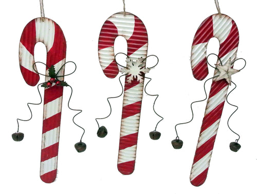 Metal Candy Cane Decor