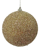 Gold Glitter Ball Ornament