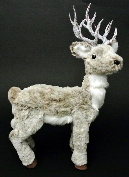 Furry Reindeer Tabletop Decor