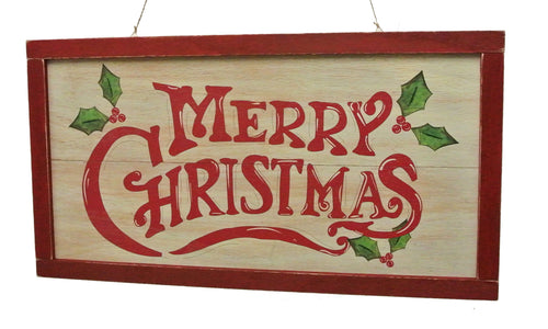 "Whitewash ""Merry Christmas"" Sign - 23.75"""