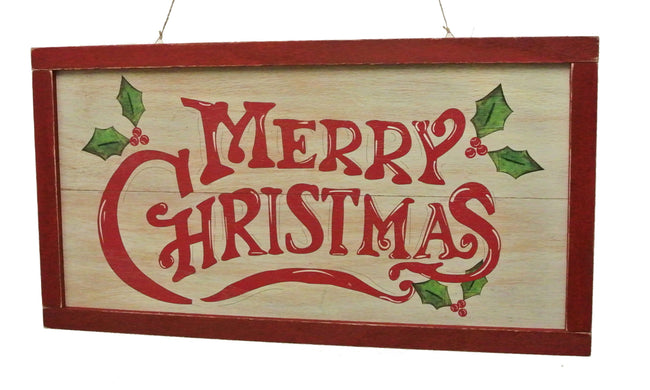 "Whitewash ""Merry Christmas"" Sign"