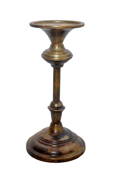 Antique Brass Iron Candle Holder
