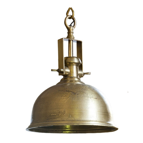 Kennedy Raw Brass Hanging Lamp