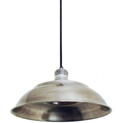 Graphite Hanging Lamp Antique Silver