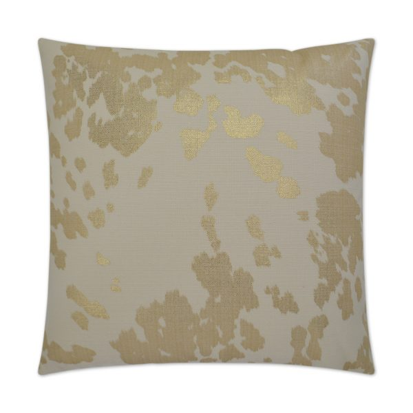 Zoey-Square Gold Pillow