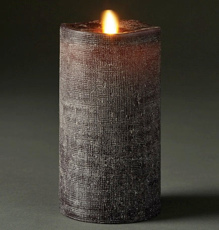 LIGHTLi Moving Flame LED Candles - Charcoal Pillars