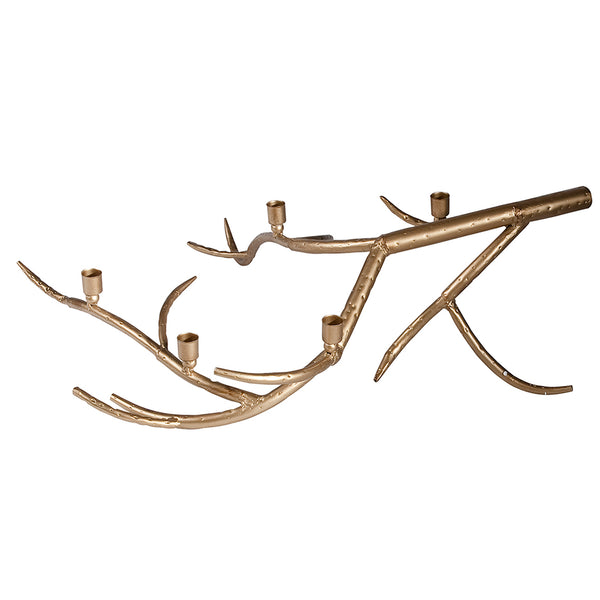 Gold Antler Candle Holder