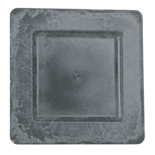 "13"" Square Charcoal Slate Charger"
