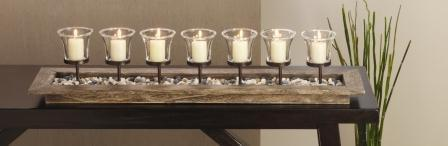 Firenza 7 Votive Centerpiece
