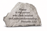 Happy Is The Person Garden Stone