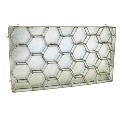 Monroe Honeycomb Wall Case- Brass