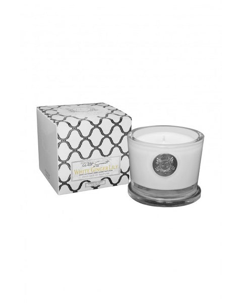 WHITE GINGER LILY~SMALL SOY CANDLE by AQUIESSE