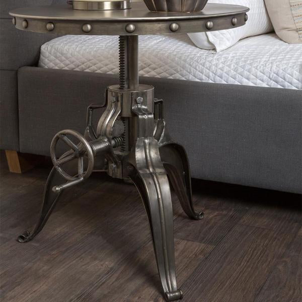 "Aftron Crank Table 30"" nickel"