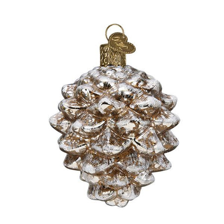 Hammered Glass Antique Silver Ball Ornament