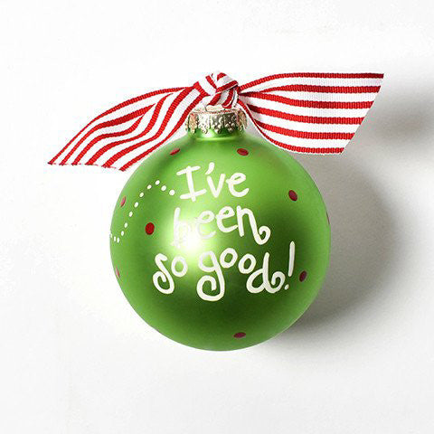 Dear Santa Glass Ornament