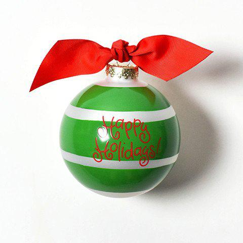 Wreath Plank Glass Ornament